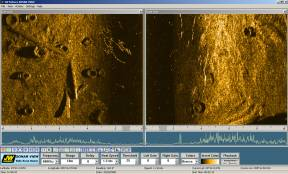 Side Scan Sonar scanned tires